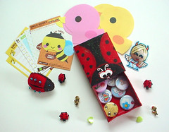 - Kawaii Matchbox Swap - (Warm 'n Fuzzy) Tags: cute buttons swap kawaii ladybug matchbox kms kawaiimatchboxswap