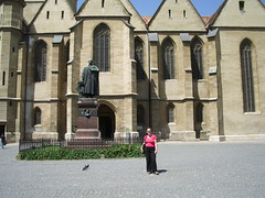 Piata Huet, outside Evangelical Cathedral
