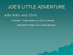 JOE'S LITTLE ADVENTURE