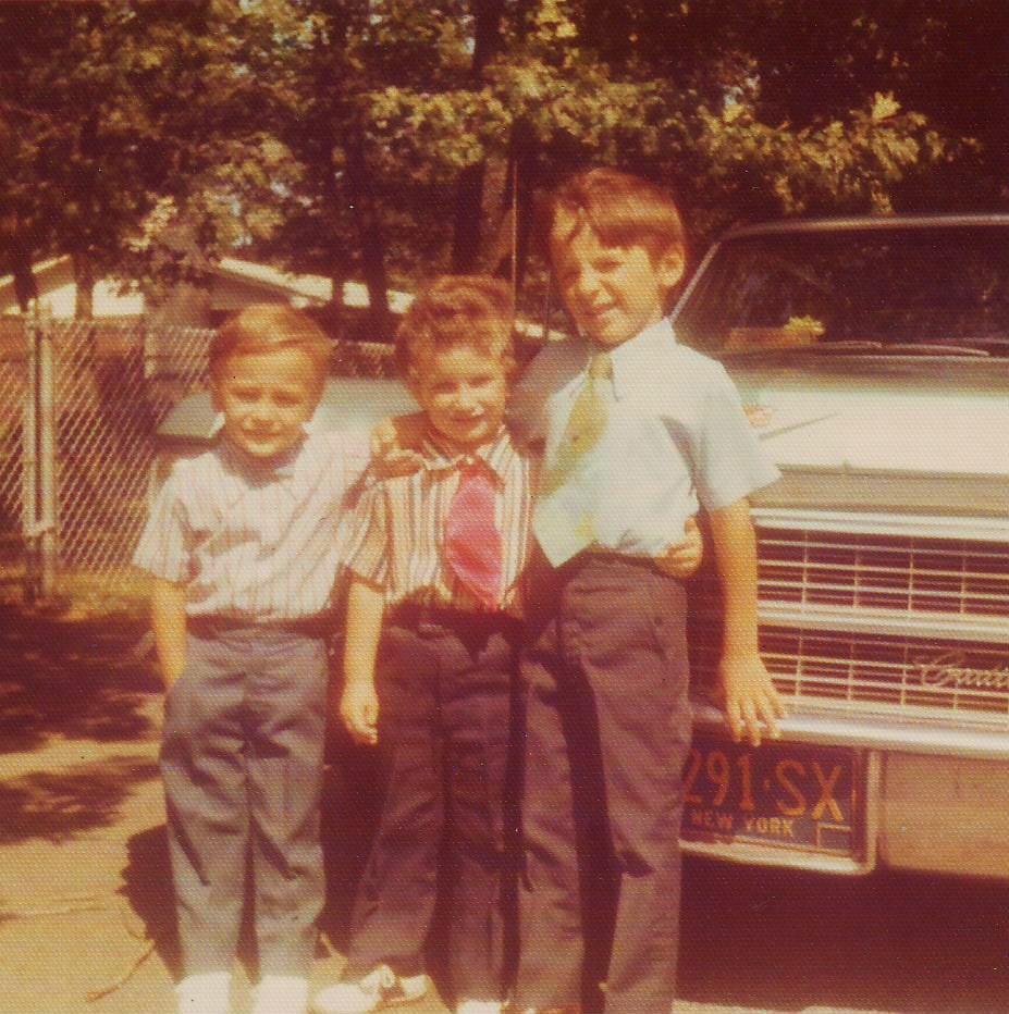 The Boys with Grandma's 1963 Cadillac. go back