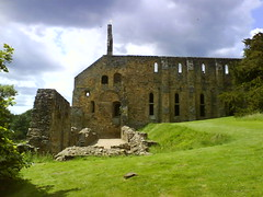 The remains of Battle Abbey's dormitories and plumbing