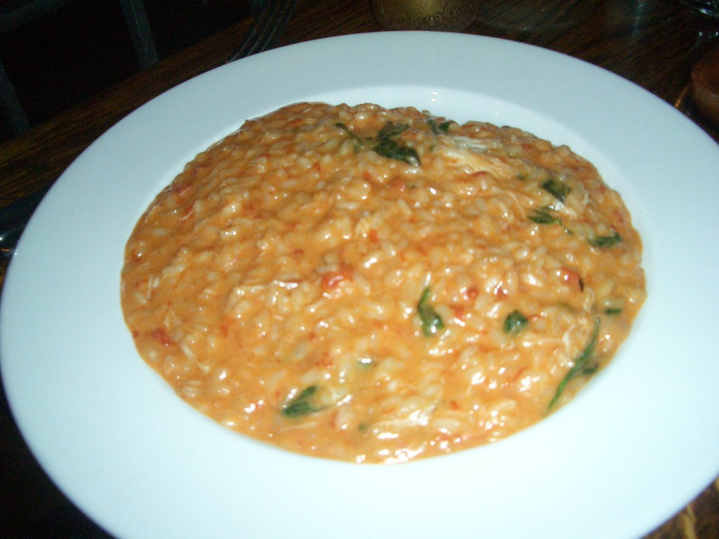 Risotto with blue swimmer crab, tomato and chilli