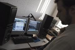 Áki in the studio (Siggidóri) Tags: music students studio drums raw nef bass guitar recording lightroom electricbass recordingsession bassi gítar adobergb hljómsveit nemendur upptökur trommur hljóðver musicstudents samspil tónlistarskólireykjanesbæjar