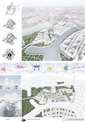 Jelena Vesic, Master plan for Szczecin Islands, concept design for Bussines centre, Szczecin, 2014.