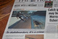 To skateboarders, It's A crime (earthdog) Tags: travel vacation word metaphoto headline newpaper needstags 2007 skatingisacrime needscamera needslens