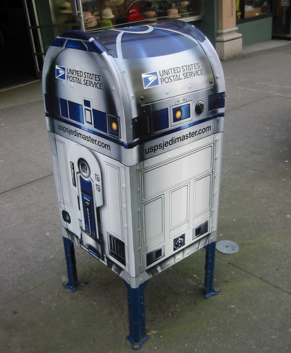 R2D2 at SW Broadway and Salmon!