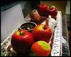 Haft Sin – هفت سین (Hyperreality) Tags: apple silver table egg sumac garlic apples silvertray haftsin norooz norouz نوروز 1386 هفتسین pwchallengewide senjed norooz1386 decoratedegg