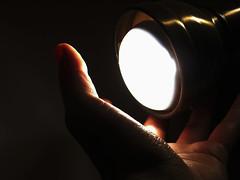 i can catch the light (LaPollon84) Tags: light red orange white black hand skin finger mano nero luce pelle buio dito