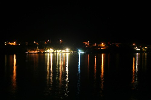 Night view from hotel pier