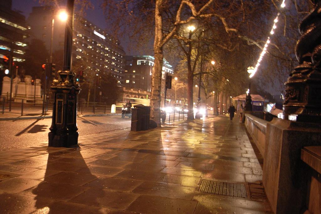 rainy night view
