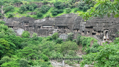 Ajanta Caves comples in Maharashtra, India