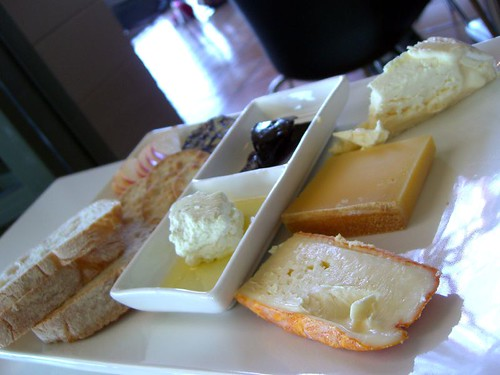 Green Point Room Cheese Platter with Tarago River Jensen's Red Washed Rind Tarago River Triple Cream Brie-style, Exton Heidi Gruyere, Ewe and Goat's Milk Feta