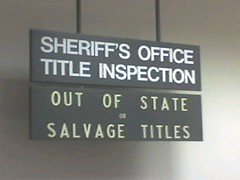 Sheriff's Office Title Inspection
