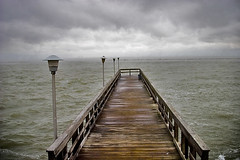Staring at the Sea (darkhairedgirl) Tags: pier rainyday overcast supershot corpuschristitexas staringatthesea shorelineblvd easterweekendroadtrip decadentscavengers