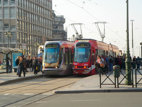Trams in Brussels, Belgium