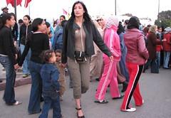 Fashion (josiehen) Tags: birthday street fashion festival women sale eid hijab parade morocco prophet tracksuits mawlid moulid annabi