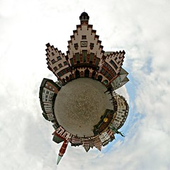 Roaming 'round the round Rmer (Man) Tags: houses panorama germany frankfurt 360 full explore handheld rathaus citysquare 360x180 spherical rmer planetoid grayday hugin enblend interestingness452 i500 interestingness183 littleplanet manuperez planetoids