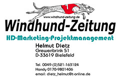 Windhund-Zeitung Visitenkarten