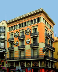 Decorated house II (www.klaus-dolle-photographie.com) Tags: barcelona eye rambla decoracin blueribbonwinner supershot chinahouse flickrsbest mywinner klausdolle anawesomeshot colorphotoaward ultimateshot travelerphotos