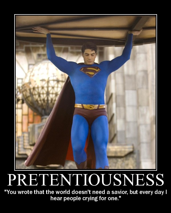 My creation: Pretentiousness