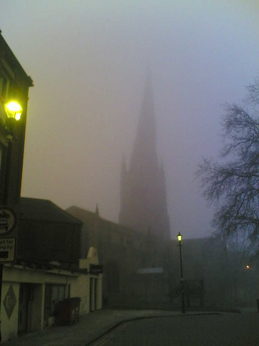 Crooked Spire in Fog