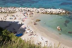 On the beach in Capri