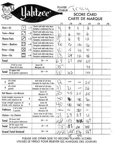 Comics Bi̇lder: Yahtzee Score Sheets