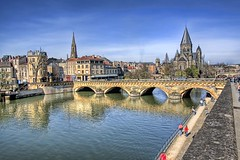 A different view of Metz (Rui M Leal) Tags: travel bridge sky people france color reflection church water canon river europe photographer shot ultimate calm professional 1d markiin l geotag portuguese ef hdr rui metz 1635 geotagging leal landscapephotography canon1dmarkiin templeneuf anawesomeshot ruimleal ultimateshot francelandscapes moyenpontdesmorts ruileal feelancer wwwruimlealphotographynet