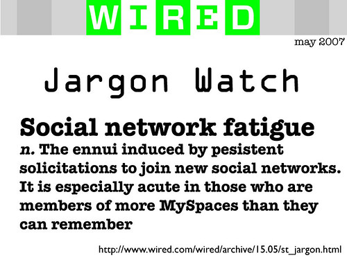 Social Network Fatigue
