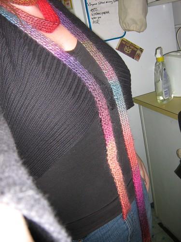 skinny scarf on