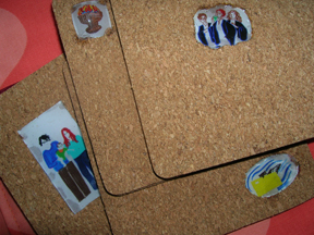 HP Cork Coasters