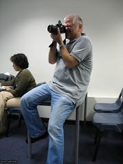 Richard taking photos at SDP presentation 2