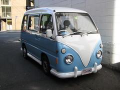 Subaru Sambar microvan (VW Kombi conversion) (SqueakyMarmot) Tags: vancouver japanese downtown subaru van subarusambarkombi