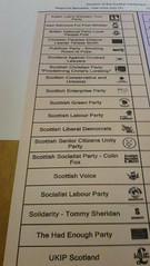 regional ballot paper