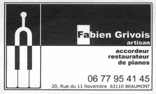 Fabien Grivois [Artisan] accordeur/restaurateur de pianos