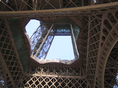 Underneath the Eiffel tower