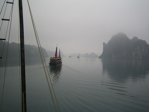 misty in ha long bay