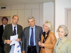 Foto con l'Assessore Rosi e MIna Welby
