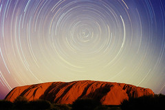 Ayers Rock PS (Taipan2007) Tags: longexposure red nature rock star cross desert centre australia pole southern trail outback uluru ayers crux celestial centauri