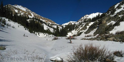 Finally on the skis in Open Canyon