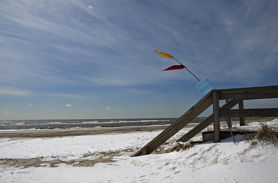 snow on fire island