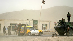 Bottle road, French road check (ProtocolJ) Tags: road trip afghanistan near bagram