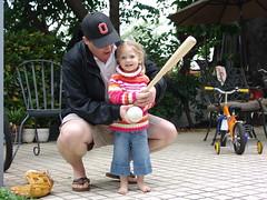 Baba helps Ada at bat