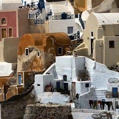 Pueblo architecture in Greece... (Frizztext) Tags: architecture square pueblo santorini greece galleries ia soe oia 25faves frizztext superaplus aplusphoto