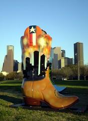 Art on the Bayou - Houston Rodeo 2007 (virgil4u) Tags: city skyline boot buffalo cowboy texas culture houston bayou rodeo 2007 architicture