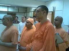 On bengali New Year day 15th April 2007 (HOLY TRIO) Tags: new delhi mission undertaking secretary swami ramakrishna revered shantatmanandaji responcibilites