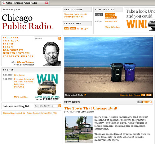 Chicago Public Radio 05/11/07