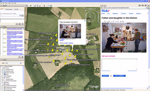 Flickr+pipes+google-earth!