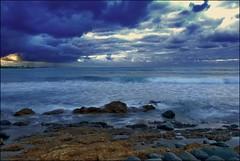 Wallabi Clouds (Earlette) Tags: ocean sky beach clouds photoshop nikon rocks surf waves australia nsw oldbar supershot d80 abigfave earlette wallabipoint