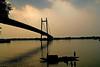 behold the beauty! (Soumya Bandyopadhyay) Tags: sunset boat canoneosdigitalrebelxt ganges boatmen 2ndhooglybridge sigma1770mm vidyasagarsetu superaplus aplusphoto